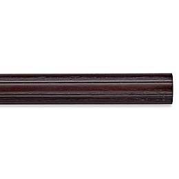 Cambria® Premier Weathered Wood Fluted Curtain Rod in Java