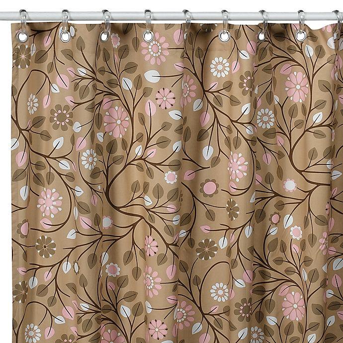 DwellStudioTM Garden Blossom Fabric Shower Curtain