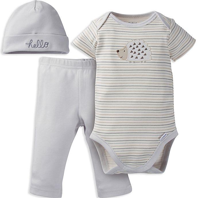 950ef8685 Gerber®  Onesies® Brand 3-Piece Hedgehog Organic Cotton Bodysuit ...
