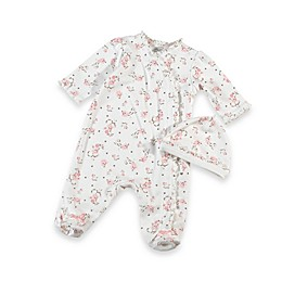 Little Me® Vintage Rose Footie with Cap