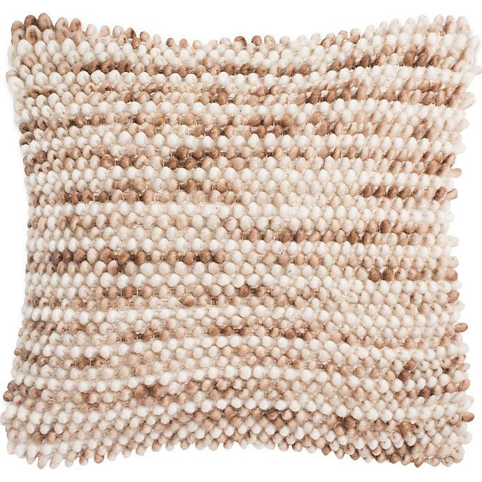 Alternate image 1 for Safavieh Pin Stripe Loop Square Throw Pillow in Eggshell