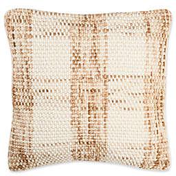 Safavieh Woven Plaid Square Throw Pillow in Eggshell