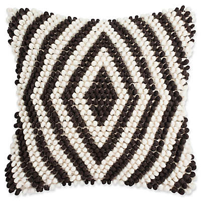 Safavieh Diamond Loop 20-Inch Square Throw Pillow
