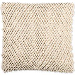 Safavieh Diamond Loop 20-Inch Square Throw Pillow in Natural