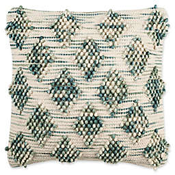 Safavieh Space Dye Square Indoor Throw Pillow in Blue/Natural