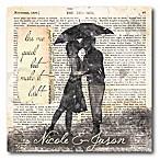 Courtside Market Romance in the Rain II Canvas Wall Art