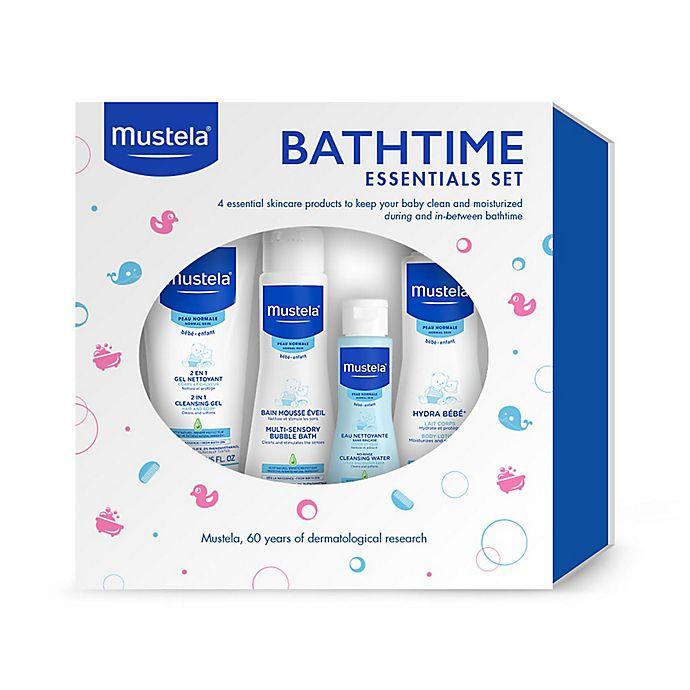 Alternate image 1 for Mustela® 4-Piece Bathtime Essentials Gift Set