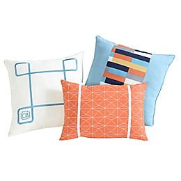Clairebella 3-Pack Geometric Throw Pillows