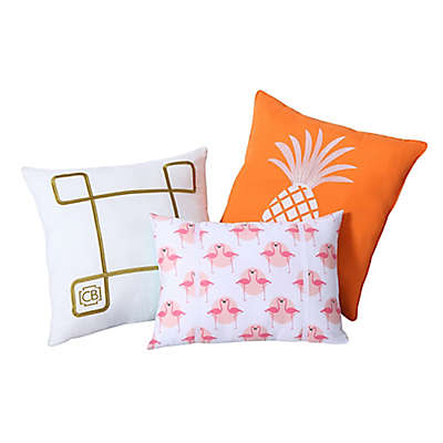 Clairebella 3-Pack Tropical Throw Pillows