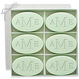 Carved Solutions 6-Pack Signature Spa Inspire Monogrammed Oval Green Tea/Bergamot Bar Soap