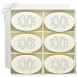 Carved Solutions 6-Pack Signature Spa Inspire Monogrammed Oval Verbena Bar Soap