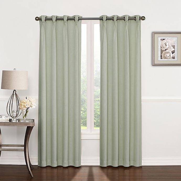 Alternate image 1 for Riverstone Pinch Pleat Grommet Top Window Curtain Panel