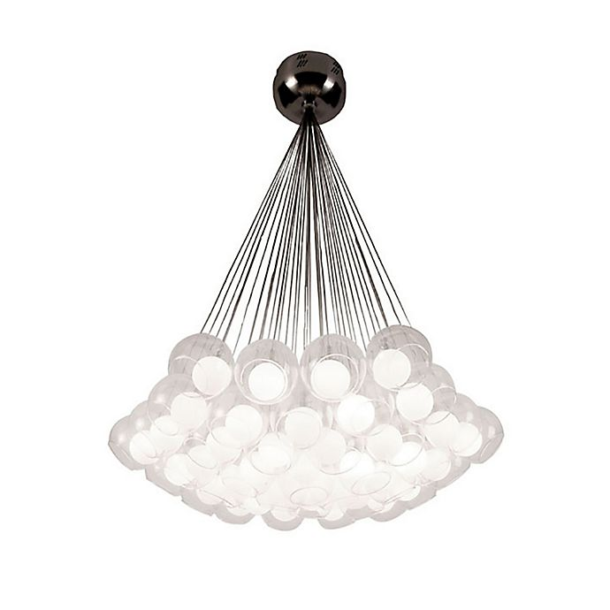 Alternate image 1 for Hydrogen 37-Light Chandelier in Satin Nickel