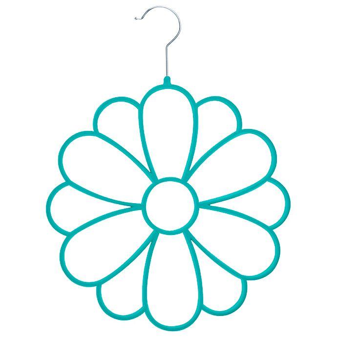 Alternate image 1 for Joy Mangano Huggable Hangers® Fashion Flower Accessory Hanger in Teal