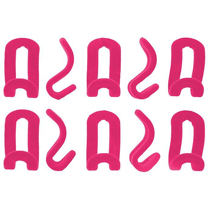 Alternate image 1 for Joy Mangano Huggable Hangers® 10-Pack Cascading Mini Hooks in Fuchsia