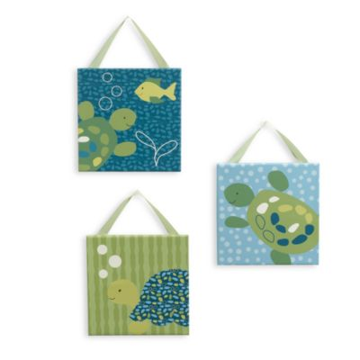 Cocalo Baby 174 Turtle Reef 3 Piece Canvas Wall Art Bed