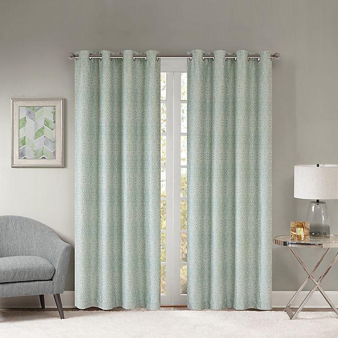 Alternate image 1 for Templeton 84-Inch Grommet Top Window Curtain Panel in Aqua