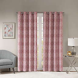 Templeton 108-Inch Grommet Top Window Curtain Panel in Burgundy