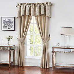 Waterford® Chantelle Pole-Top Window Curtain Panel Pair and Valance