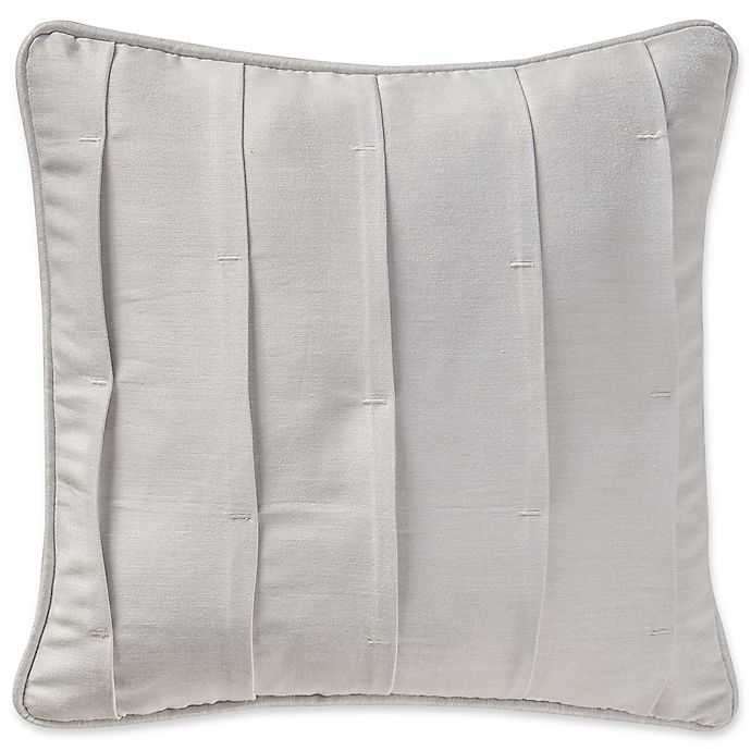 Alternate image 1 for Waterford® Sophia Pleated Square Throw Pillow in Platinum
