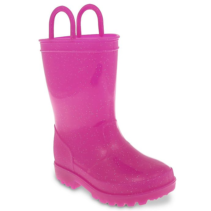 Alternate image 1 for Capelli New York Size 8-9 Casual Jelly Rain Boot with Handles in Pink