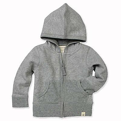 Burt's Bees Baby® Loose Pique Hoodie in Grey