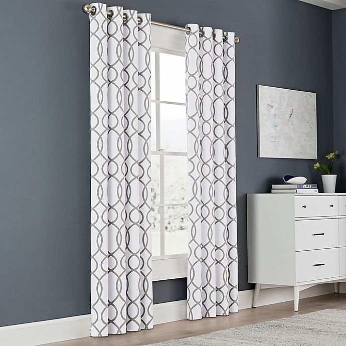Alternate image 1 for Newport Wave 63-Inch Light-Filtering Grommet Top Window Curtain Panel in Slate