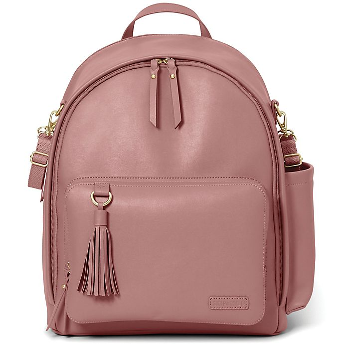 Alternate image 1 for SKIP*HOP® Greenwich Simply Chic Backpack Diaper Bag in Dusty Rose