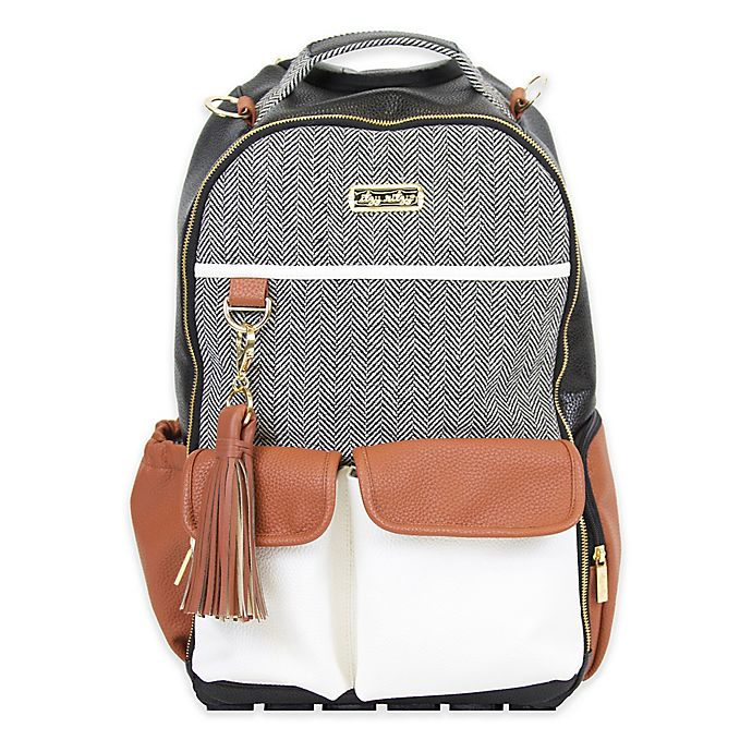 Alternate image 1 for Itzy Ritzy® Backpack Diaper Bag Backpack in Brown/Cream