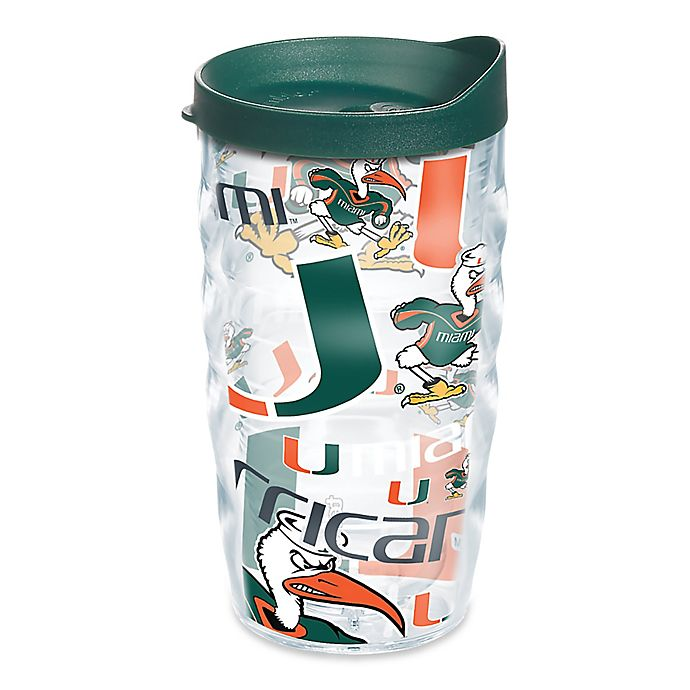 Alternate image 1 for Tervis® University of Miami 10 oz. Wavy Wrap Tumbler with Lid