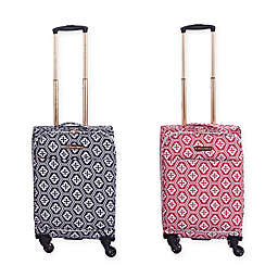 Jenni Chan Aria Snow Flake 20-Inch Spinner Wheel Carry On Luggage