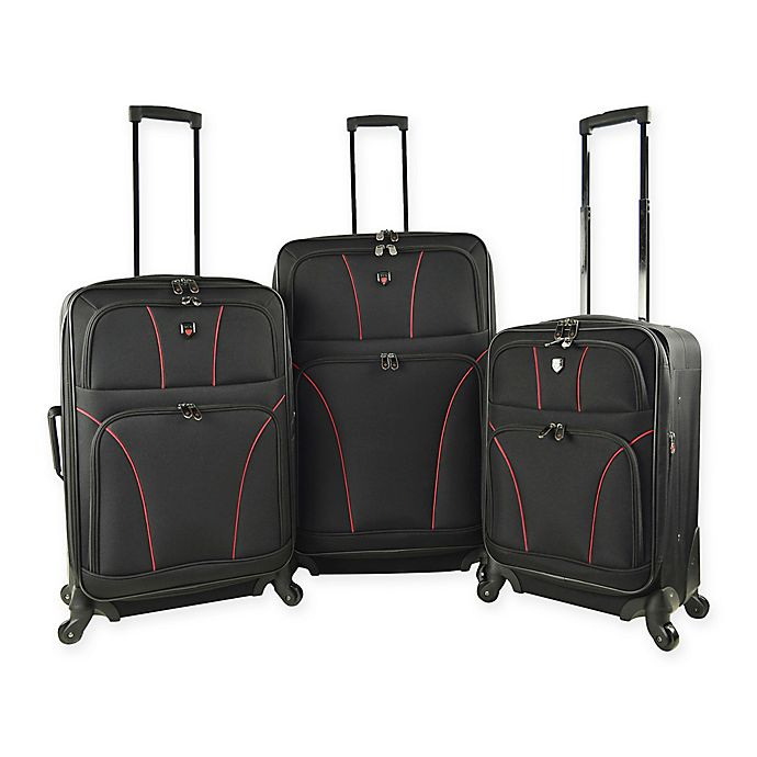 eee42b5f4 Travelers Club® Bowman 2.0 3-Piece Expandable Spinner Luggage Set in Black