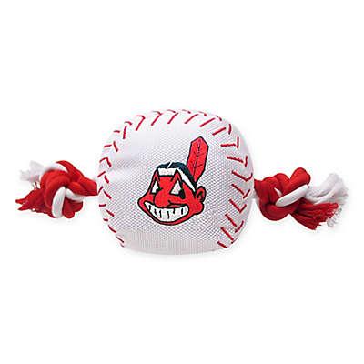 MLB Cleveland Indians Baseball Pet Rope Toy