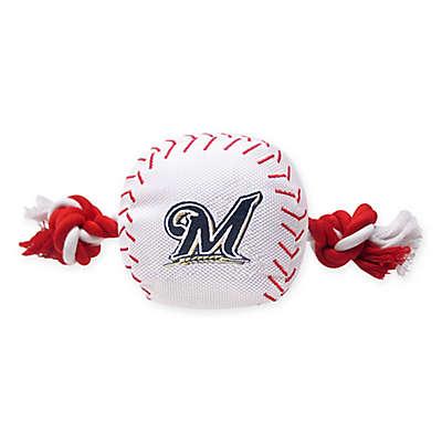 MLB Milwaukee Brewers Baseball Pet Rope Toy