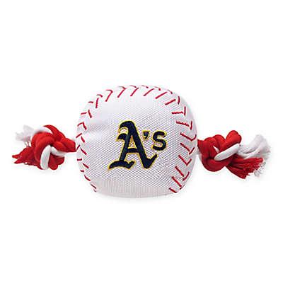 MLB Oakland A's Baseball Pet Rope Toy