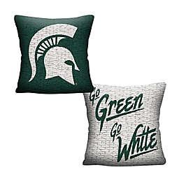 Michigan State University Woven Square Throw Pillow