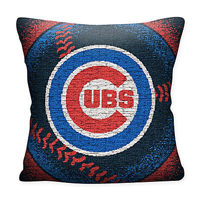MLB Chicago Cubs Woven Square Throw Pillow