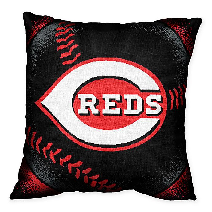 Alternate image 1 for MLB Cincinnati Reds Woven Square Throw Pillow