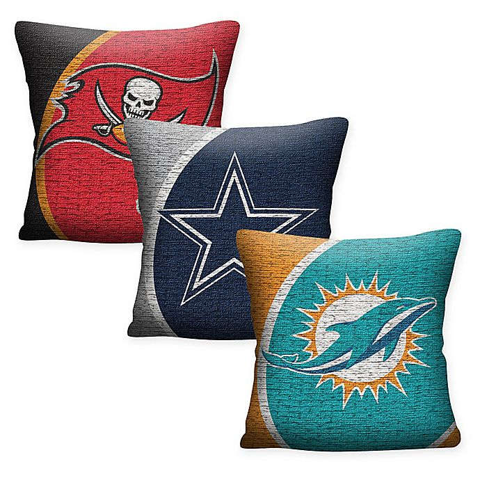 Alternate image 1 for NFL Woven Square Throw Pillow