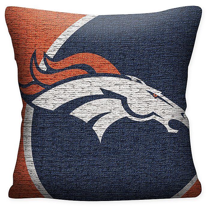 Alternate image 1 for NFL Denver Broncos Woven Square Throw Pillow