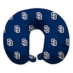 MLB San Diego Padres Plush Microfiber Travel Pillow with Snap Closure