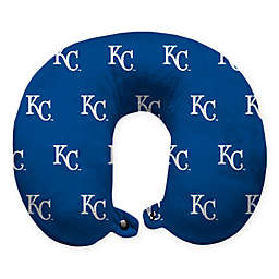 MLB Kansas City Royals Plush Microfiber Travel Pillow with Snap Closure