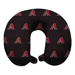 MLB Arizona Diamondbacks Plush Microfiber Travel Pillow with Snap Closure