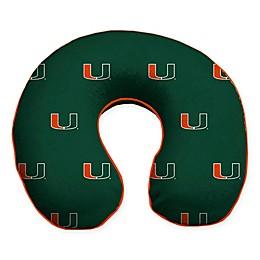 University of Miami Plush Microfiber Travel Pillow