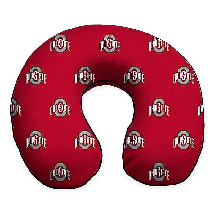 Alternate image 1 for Ohio State University Plush Microfiber Travel Pillow