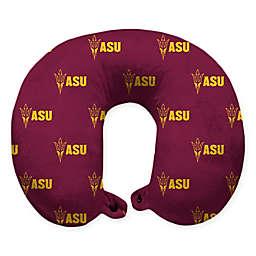 Arizona State University Plush Microfiber Travel Pillow with Snap Closure