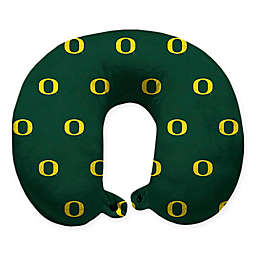 University of Oregon Plush Microfiber Travel Pillow with Snap Closure