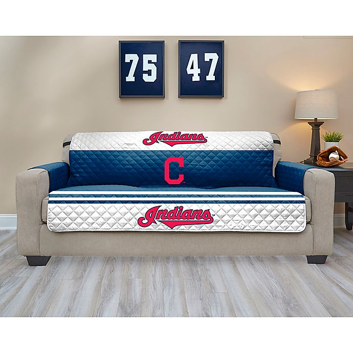 Alternate image 1 for MLB Cleveland Indians Sofa Cover