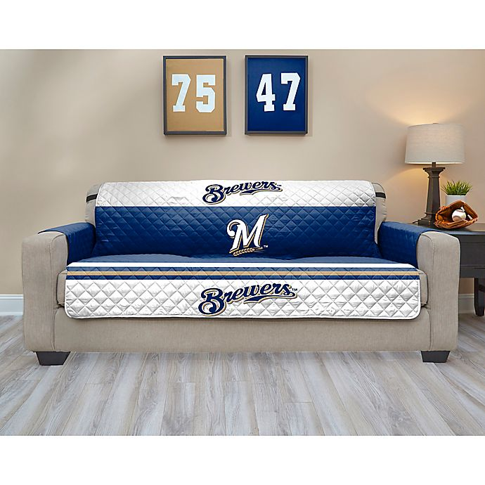 Alternate image 1 for MLB Milwaukee Brewers Sofa Cover
