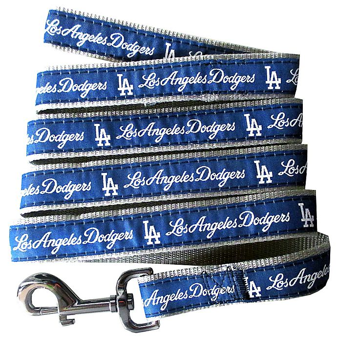 Alternate image 1 for MLB Los Angeles Dodgers Small Pet Leash